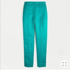 NWT J. Crew High Rise satin cigarette pant